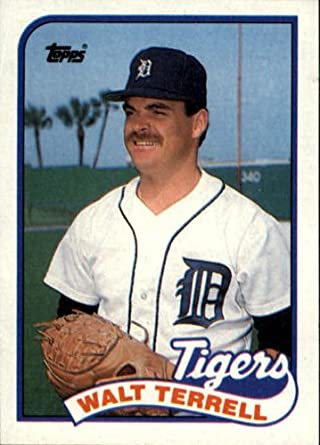 Amazoncom 1989 Topps Baseball Card 127 Walt Terrell Collectibles