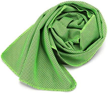 CQIANG スポーツ大型コールドタオル、吸汗速乾性フィットネススウェットタオル (Color : Green)
