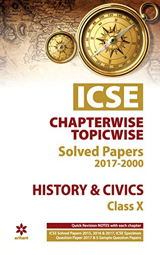 Books : ICSE History & Civics Chapterwise-Topicwise Solved Papers Class 10th
