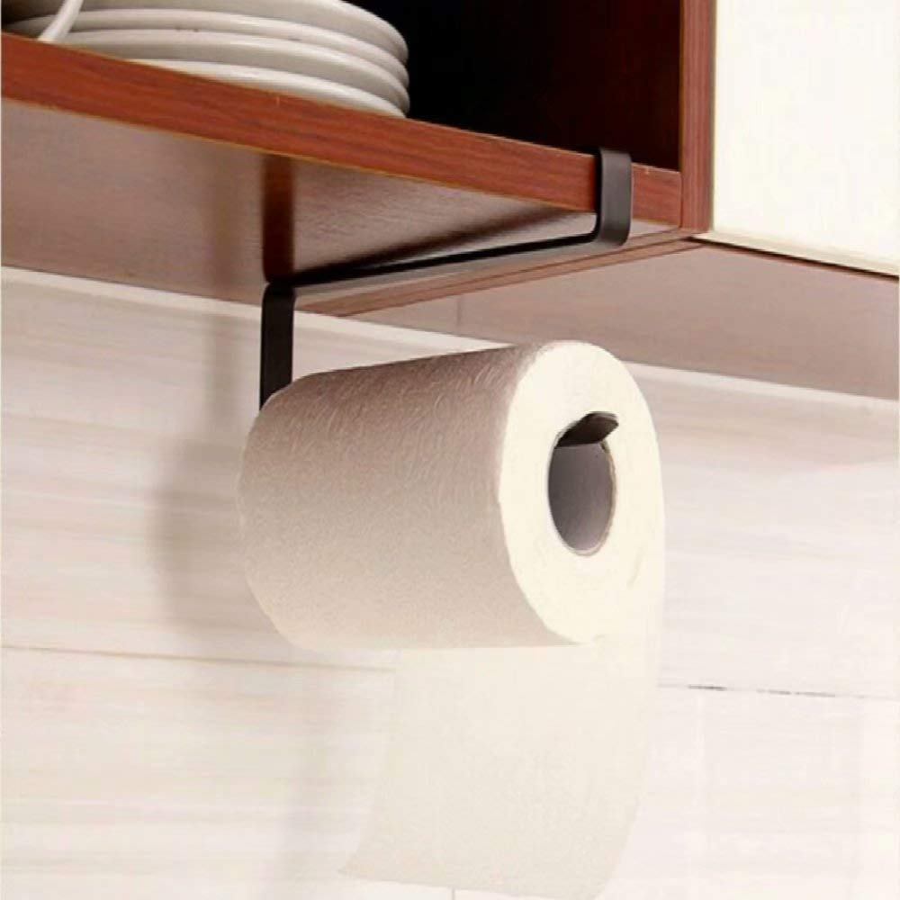 JANDH Kitchen Paper Roll Holders Dispensador de toallas Sin taladro Organizador de ba/ño Rack Hanger Storage Montado en la pared extra/íble sin perforaci/ón Gabinete Para Cocina Ba/ño Ba/ño Rollos Est/ándar