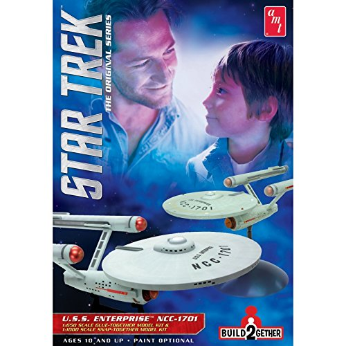 AMT 1:65//1:10 Scale Star Trek USS Enterprise Build2gether Model Kit