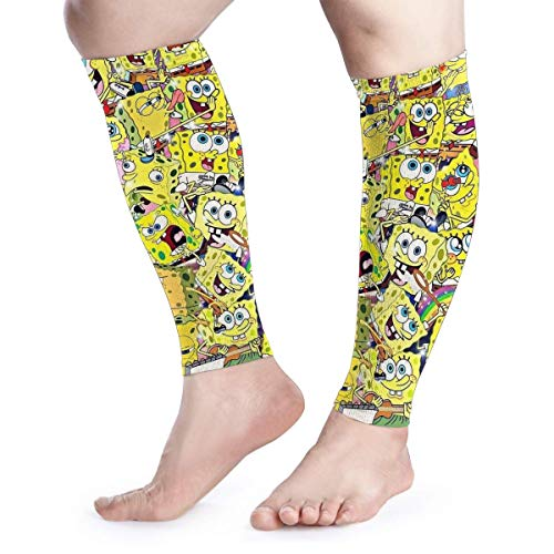 Spongebob Calf Compression Sleeves-Great for Men and Women - Ideal for Sports, Work, Flight,ect-Support Sore Muscles & Joints,1 Pair]()
