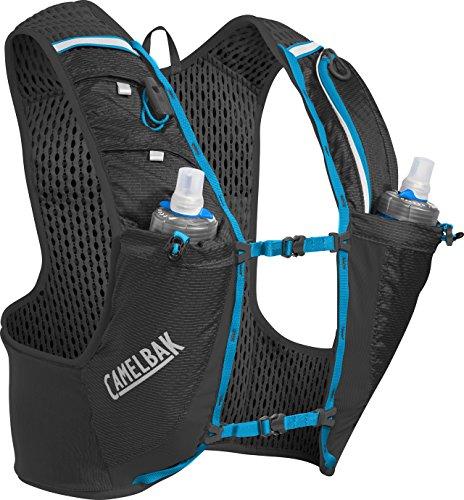 Camelbak Uni Ultra Pro Vest Quick Stow Flask L Trinkrucksack, Black/Atomic Blue, 17 oz
