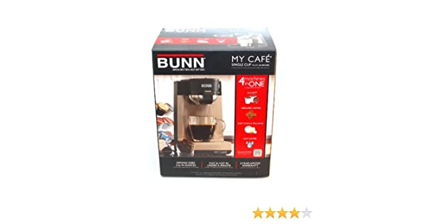 Amazon.com: My Cafe Single Serve Brewers Stainless Steel Black [Bunmcu]: Single Serve Brewing Machines: Kitchen & Dining