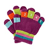 Grand Sierra Toddler 2-4T Knit Stretch Counting Gloves, Purple