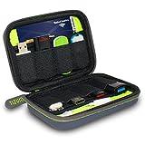 Tizum 8 x USB Flash Drives Carrying Case, Premium Quality, Hard EVA for Flash/key Drives (Gray)