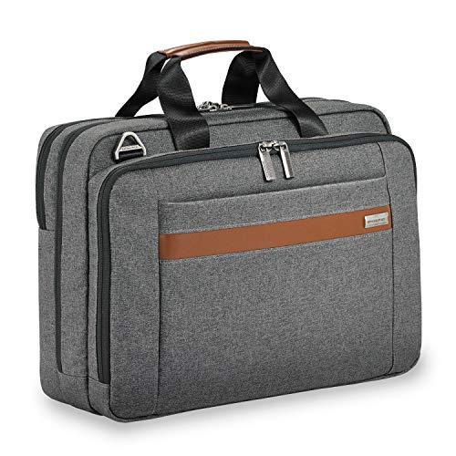 - Briggs & Riley Kinzie Street Medium Brief Briefcase, Grey, One Size