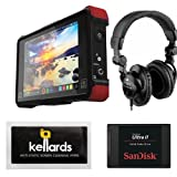 Atomos Ninja Flame 7'' 4K HDMI Recording Monitor Bundle With SanDisk Ultra II 240GB Solid State Drive & Superlux HD-562 Professional Headphone