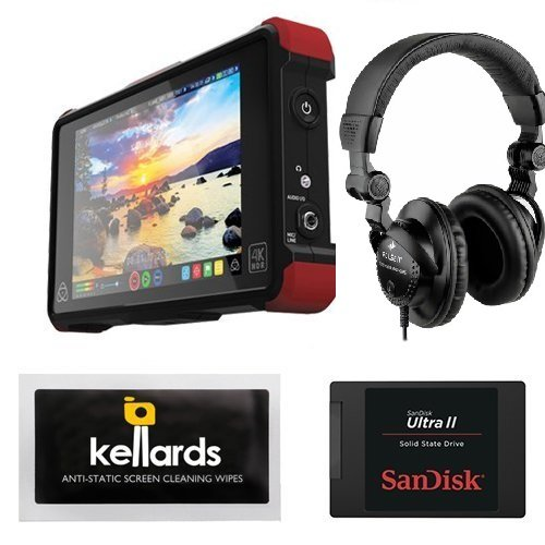 Atomos Ninja Flame 7' 4K HDMI Recording Monitor Bundle With SanDisk Ultra II 240GB Solid State Drive & Superlux HD-562 Professional Headphone