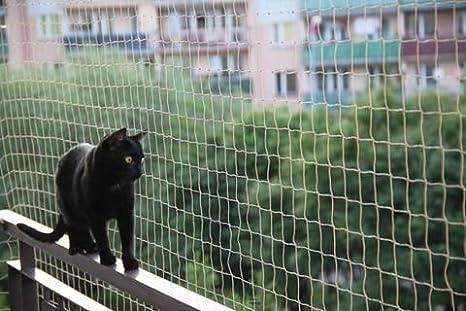 Red gatos y aves balcón 5x5Mt + 50 fijaciones: Amazon.es ...