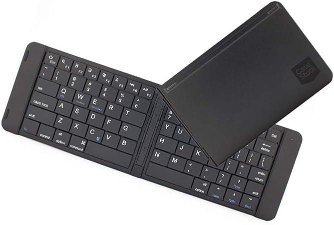 SSCJ Teclado Plegable Bluetooth, Teclado inalámbrico Flexible Tamaño de Bolsillo Mini Recargable, para iPhone iPad Mac Tableta Samsung Galaxy iOS/Android/Dispositivo de Windows,Black: Amazon.es: Hogar
