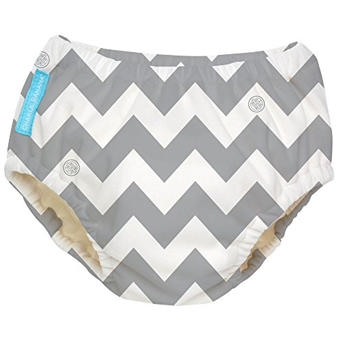 Charlie Banana Extraordinary Training Pants, Grey Chevron