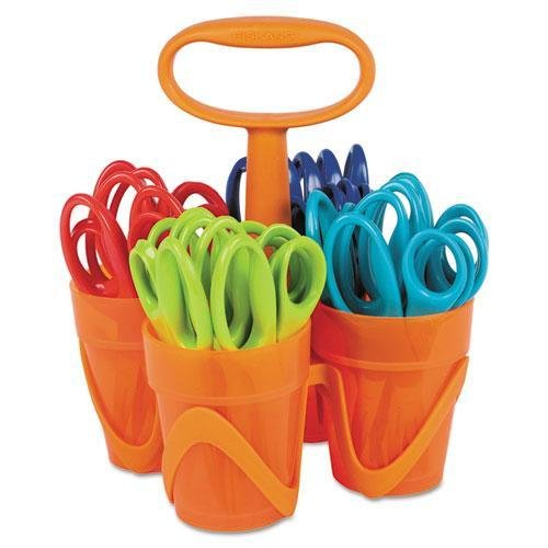FSK1234677097J - Fiskars Pointed-tip Kids Scissors Classpack Caddy (5, 24 Pack)