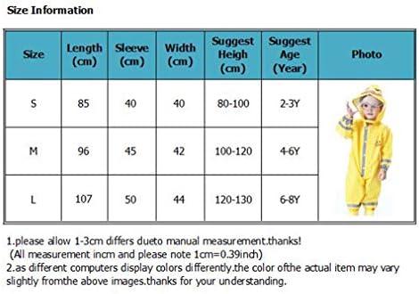 Wetry Completo Impermeabile Pioggia per Bambini,3D Cartoon Animal Cappotto Pioggia Poncho Antipioggia Giacca Pioggia Protezione 80-130CM