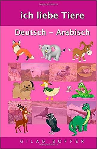 Book ich liebe Tiere Deutsch - Arabisch