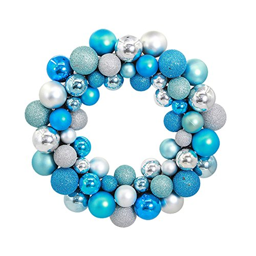 Aimeart Glittery Christmas Balls Wreath Garland Ornaments Christmas Tree Orbs Mardi Gras Balls Arcades Small Decorations for Wedding Party or Anniversary; 3 special finishes: Shiny, Matte, Glitter (Garland Christmas Banister)