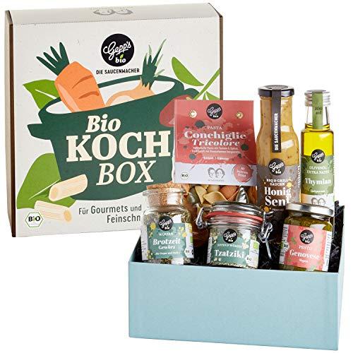 Gepp's Feinkost BIO Kochbox I 6 Bio-Produkte aus unserer Delikatessenwelt I Italienische Pasta Conchiglie & Pesto…