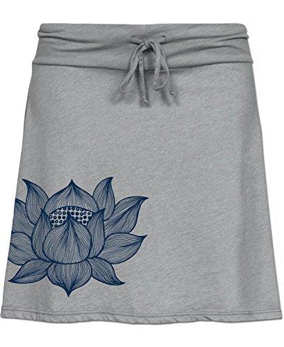 Soul Flower Women's Namaste Yoga Skirt SM Gray