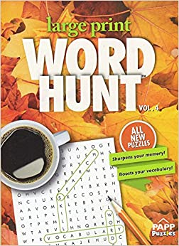 Book Large Print Word Hunt - All New Puzzles - (2016) - Vol.4