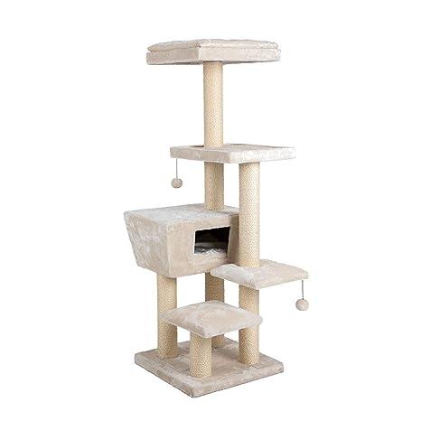 NYJ Árbol De Gato Marcos De Escalada para Gatos Nivel Múltiple Torre De Gato con Escalera