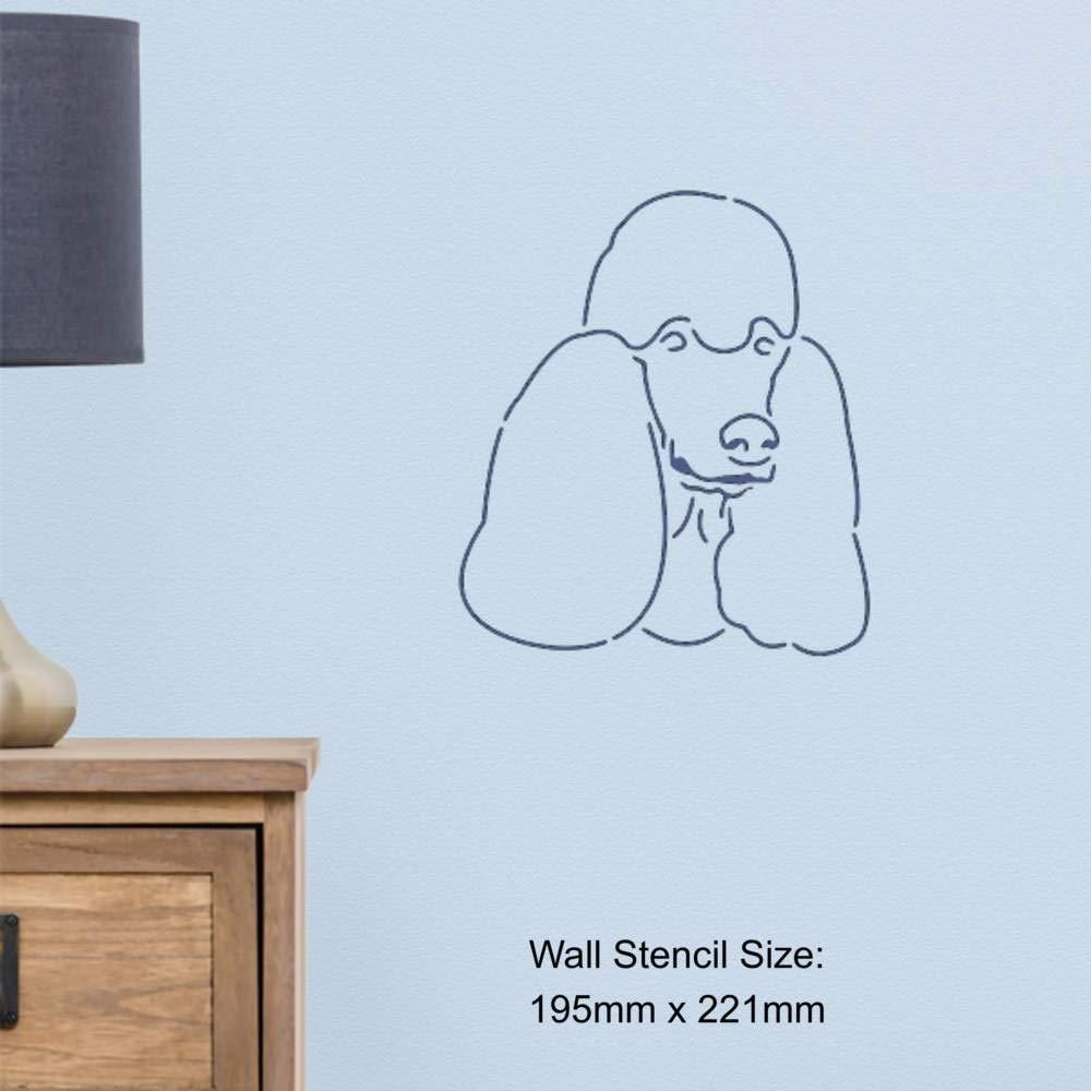 Vorlage A4 Pudel Gesicht Wandschablone WS00003525