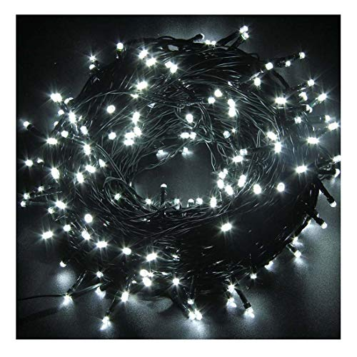 (Indoor/Outdoor String Lights with 8 Flash Changing Modes, USB Power 72ft 200LED Wire lights, Waterproof Rope Lights, Fairy Twinkle Decorative Lights for Party/Christmas/Patio/Garden/Home (Cool White))