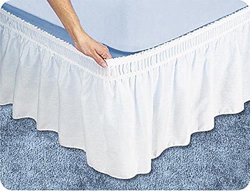Scala 1PCs Verpackung um Bed Rock(Weiß Feste , Euro Doppel IKEA Größe , Drop Length 22cm) 100% ägyptischer Baumwolle Hohe Qualität 300 Gewinde zählen
