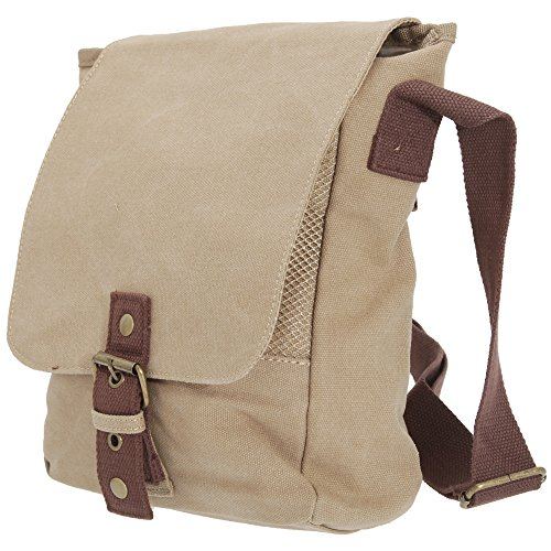 Quadra Vintage Canvas Ipad / Tablet Reporter Bag (5 Litres) Sahara