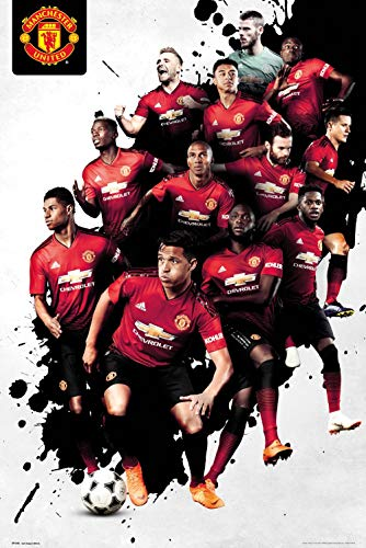 (Manchester United - Premier League Soccer Poster (The Players - Season 2018/2019) (Size: 24