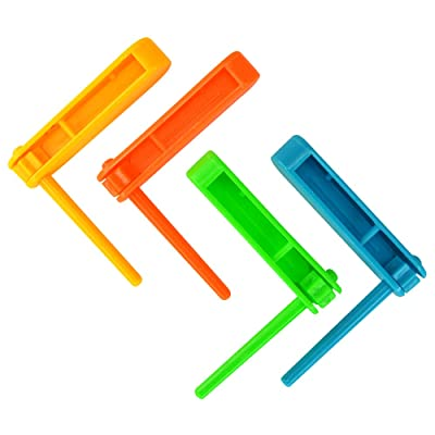 Pack of 12 Mini Spinning Rattle Noisemakers for Parties, Parades: Toys & Games