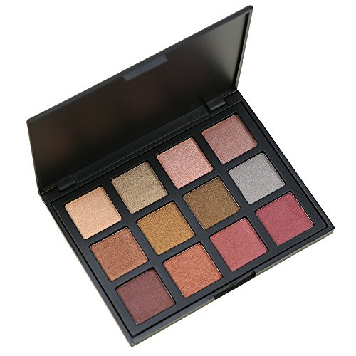 MISKOS 12S 12 Color All Shimmer Warm Winter Eyeshadow Palette Portable Glitter Beauty Makeup Set Pigmented Eye Shadow