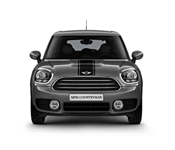 Mini Genuine Hood Trunk Sport Stripes Decal Adhesive Body Set Black