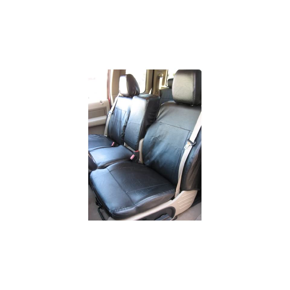 Exact Seat Covers, F369 L1, 2004 2008 Ford F150 XLT Regular or Super Cab Front 40/20/40 Split Seat Custom Exact Fit Seat Covers, Black Leatherette