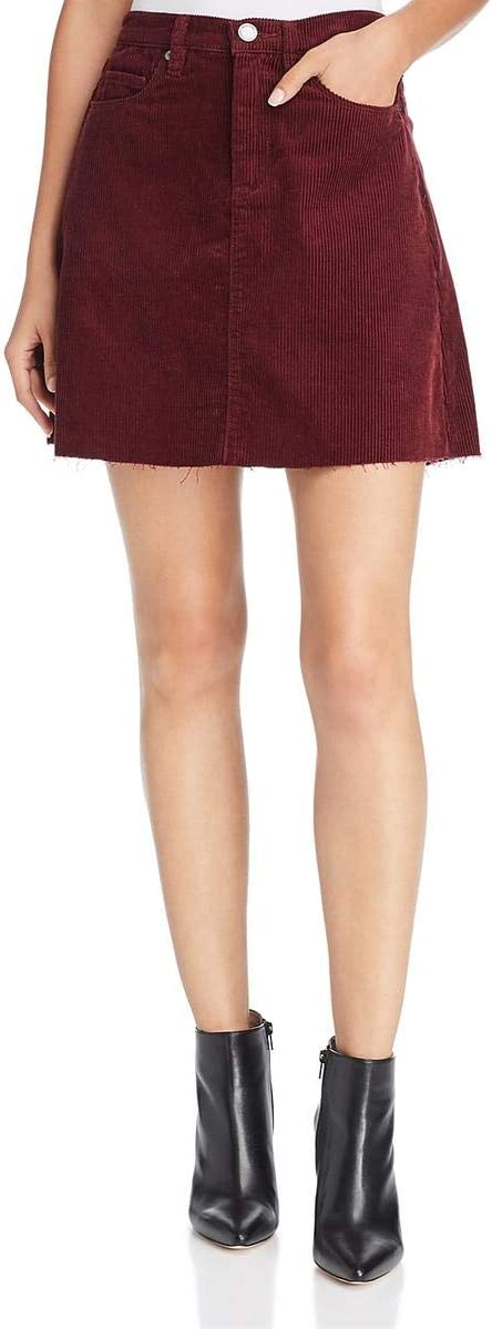 Blank NYC Women's Corduroy Mini Skirt in Merlot