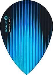 10 x Sets Harrows Sonic Aqua Blue Dart Flights Pear