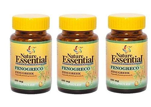 Nature Essential - FENOGRECO 50 CAPS 400 MG NATURE ESSENTIAL: Amazon.es: Salud y cuidado personal