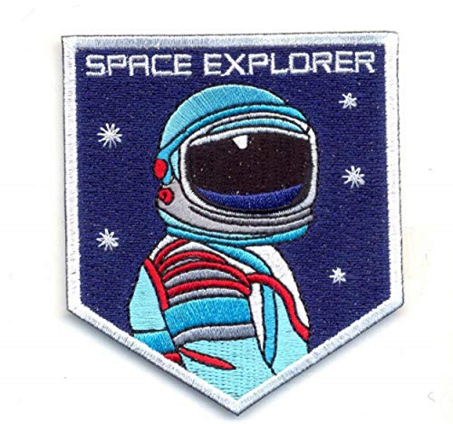 SPACE EXPLORER. IRON ON EMBROIDERED EMBROIDERY PATCH PATCHES