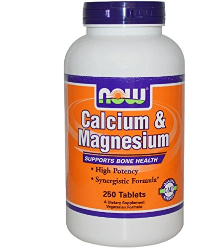 Now Foods Calcium & Magnesium – 250 Tablets (single pack) For Sale