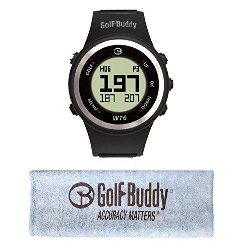 GolfBuddy WT6 Golf GPS Watch Black with Bonus Golf Buddy Microfiber Towel by GolfBuddy (Image #5)