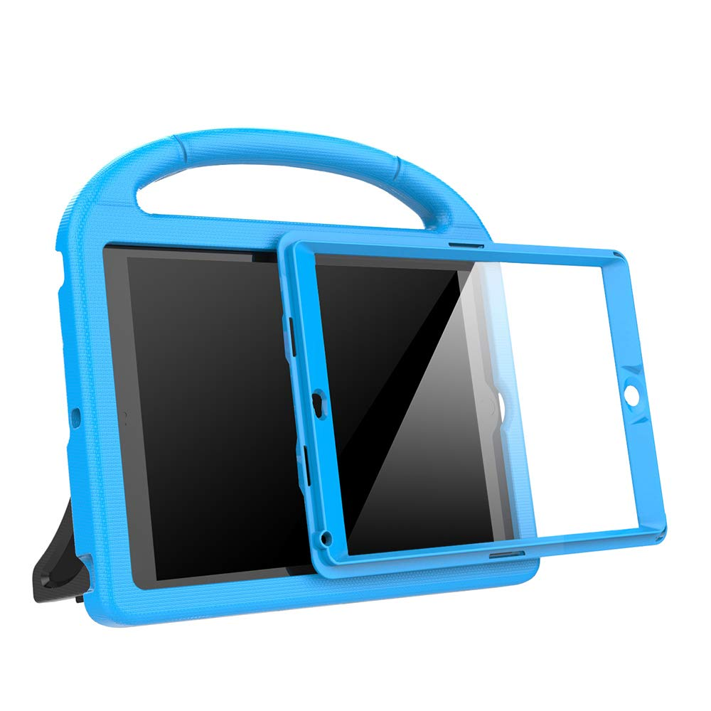 eTopxizu Kids Case for iPad Mini 1 2 3 - Light Weight Shock Proof Handle Stand Cover Case with Built-in Screen Protector for iPad Mini 1 / iPad Mini 2 / iPad Mini 3 - Blue