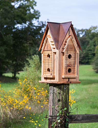 Copper Mansion Bird House by -