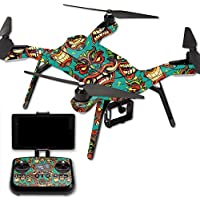 Skin For 3DR Solo Drone – Crazy Tikis | MightySkins Protective, Durable, and Unique Vinyl Decal wrap cover | Easy To Apply, Remove, and Change Styles | Made in the USA
