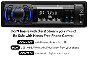Boss Audio 616uab Car Stereo, Single Din, Bluetooth, Usbmp3wma Amfm Radio 7
