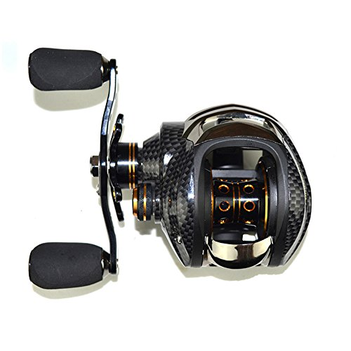 Lixada 17+1 Ball Bearings Baitcasting Fishing Reel 7.0:1 Bait Casting Reels Left / Right Hand Fishing Reel with One Way Clutch Baitcasting Reel