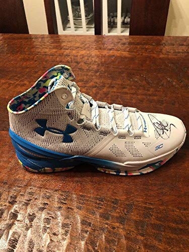 Steph Curry Autographed Signed Under Armour Curry 2 Birthday Cake Shoe PSA/DNA Warriors