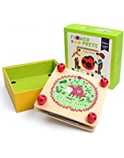 Happy-Time Flower & Leaf Press Nature Crafts - Happytime MD0071 Wooden Art Kit Outdoor Play Learning Toy for 3+ Years Old Kids