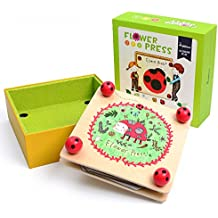 Flower & Leaf Press Nature Crafts - Happytime MD0071 Wooden Art Kit Outdoor Play Learning Toy for 3+ Years Old Kids