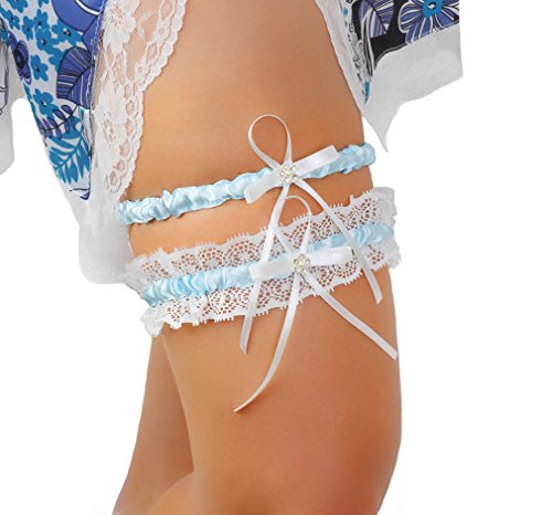 LR Bridal Wedding Garter Rhinestone product image