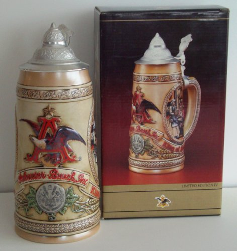 1988 Budweiser Collectable Limited Edition IV Stein; Tavern & Public House Scenes