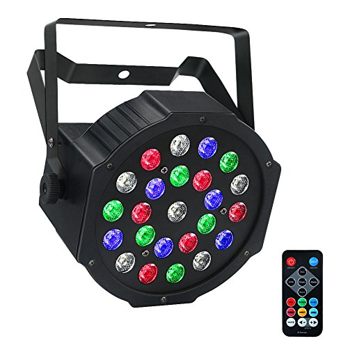 Stage Lights, LaluceNatz 24LEDs Par Lights with RGBW by IR Remote DMX and Sound Active for Party Stage Lighting